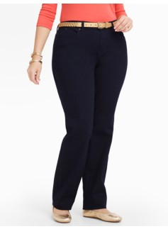 Slimming Curvy Midnight-Wash Straight-Leg Jeans