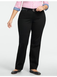 Slimming Curvy Black Straight-Leg Jeans