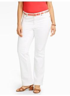 Slimming Curvy Straight-Leg Jeans