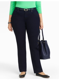 Slimming Heritage Straight-Leg Jeans - Midnight Wash
