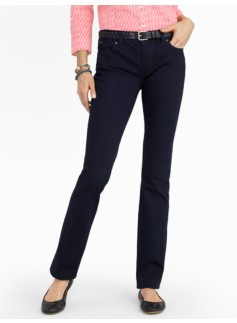 Slimming Signature Midnight Wash Straight-Leg Jeans