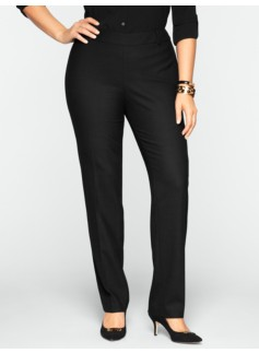 Heritage Wool Bi-Stretch Straight-Leg Pants