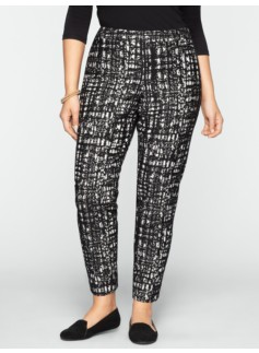 Heritage Textured Grid Jacquard Ankle Pants