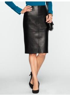 Leather & Ponte Pencil Skirt