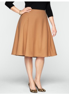Italian Flannel Modern Flared Skirt