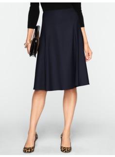 Italian Flannel Modern Flared Skirt