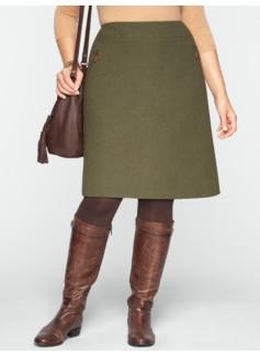 Wool-Blend A-Line Skirt