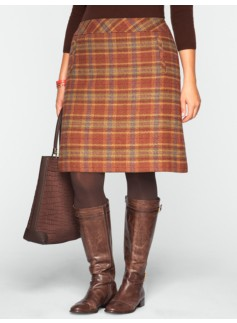 Ross Plaid A-Line Skirt