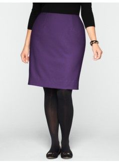 Italian Flannel Pencil Skirt