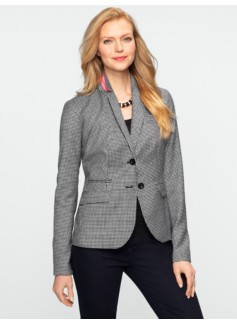 Gingham Check Blazer