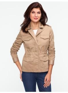 Micro-Piqu� Safari Jacket