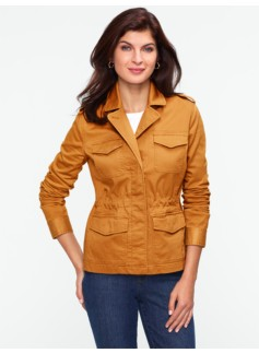 Micro-Piqu� Safari Jacket
