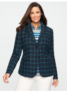 Equestrian Windowpane Plaid Hacking Jacket