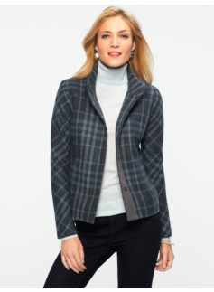 Plush Stadium Plaid Jacket