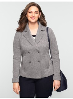Rib Knit Double-Faced Jacket