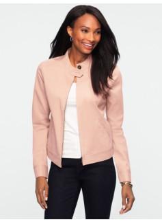 Band-Collar Twill Jacket