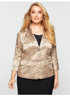 Double-Button Socialite Jacquard Jacket