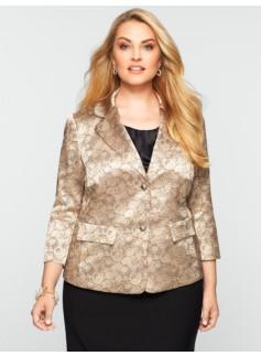 Double-Button Socialite Jacquard Jacket
