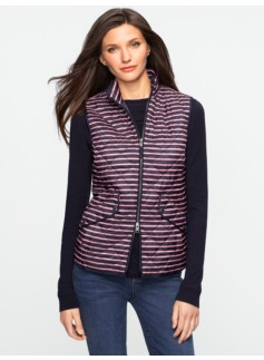 Quilted Striped Vest