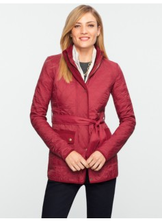 Belted Quilted Coat