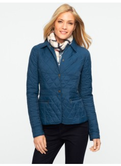 Snap-Front Quilted Jacket