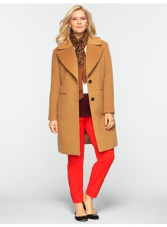 Plush Notched-Collar Coat