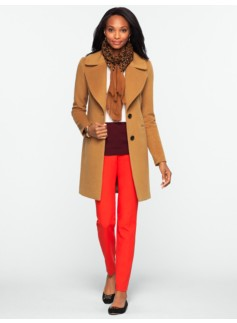 Plush Notched-Collar Coat