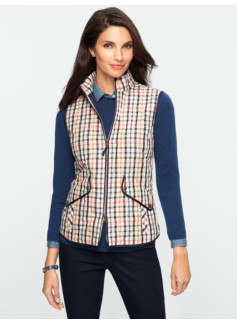 Boreal Plaid Quilted Vest