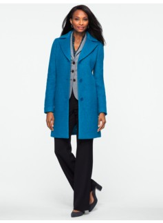 Brushed Boiled Wool Coat
