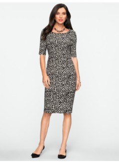 Shaded Animal-Print Dress