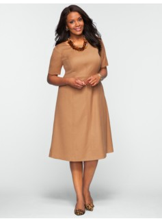 Italian Flannel Fit & Flare Dress