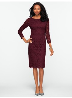 Autumn Leaf Lace Dress