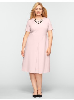 Ponte Pleat Front Dress