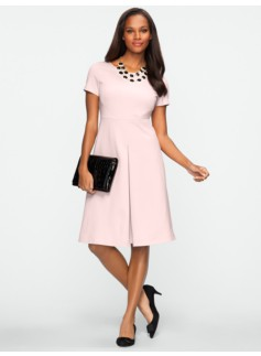 Ponte Pleat Front Dress
