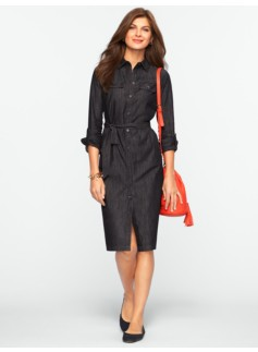 Ebony Wash Denim Shirtdress