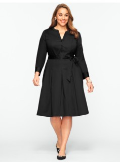 Band-Collar Shirtdress