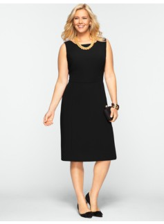Seasonless Crepe Fit & Flare Dress