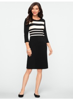 Blocked-Stripe Dress