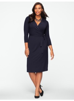 Platinum Jersey Surplice-Wrap Dress