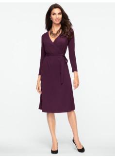 Platinum Jersey Surplice-Wrap Dress