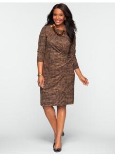 City Jersey Printed Dress