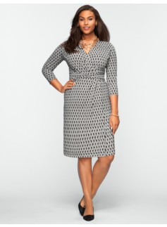 Crosshatch-Print Dress