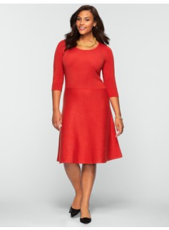 Fit & Flare Sweater Dress