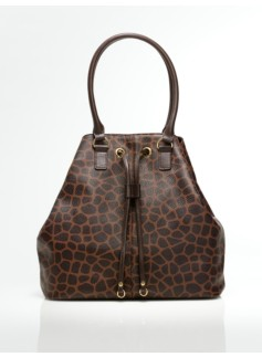 Giraffe-Print Shoulder Bag