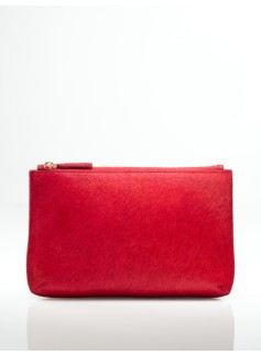 Haircalf  and Leather Pouch