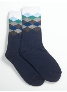 Ombr� Argyle Socks
