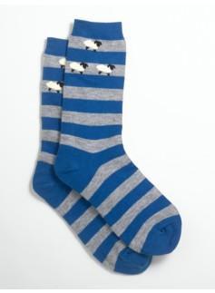 Lamb-Print & Stripe Socks