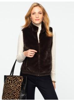 Faux-Fur Zip-Front Vest