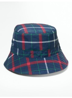 Tattersall Plaid Rain Hat