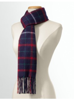Cashmere Tattersall Plaid Scarf
